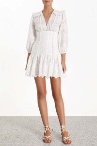 Zimmermann Honour Corset Lace Short Dress