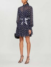 ZIMMERMANN Sabotage spot-print silk mini dress in midnight dot