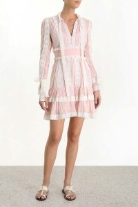 Zimmermann Verity Pintuck Short Dress