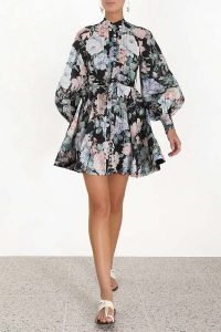 Zimmermann Verity Rouleau Short Dress