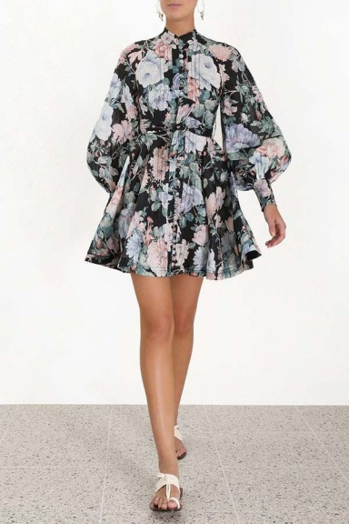 Zimmermann Verity Rouleau Short Dress