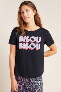 Kera Till Bisou Graphic Tee in Black / slogan t-shirts / kiss