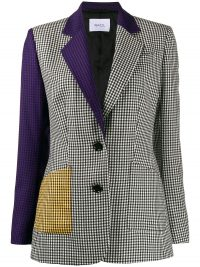 RACIL John patchwork gingham blazer