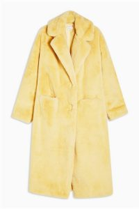 TOPSHOP Buttermilk Maxi Length Faux Fur Coat / luxe style winter coats