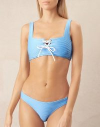 heidi klein Cairns Lace Up Square Neck Top – tie front bikinis