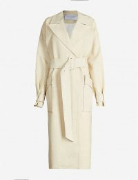 CAMILLA AND MARC Theo woven trench coat in light-beige | neutral autumn coats