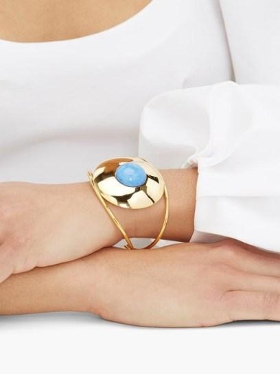 JOELLE KHARRAT Chapiteau gold-plated cuff bracelet   luxe boho accessory - flipped