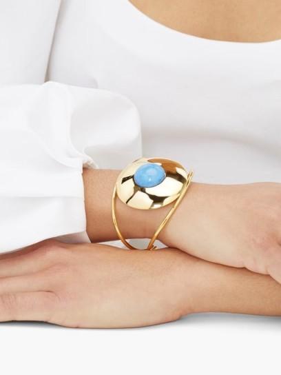 JOELLE KHARRAT Chapiteau gold-plated cuff bracelet | luxe boho accessory