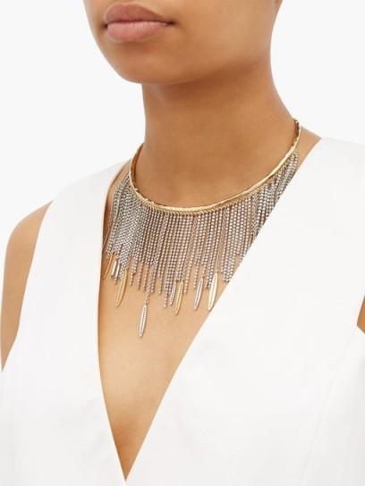 GIVENCHY Crystal-embellished choker ~ fringed chokers