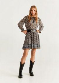 MANGO Elastic waist dress – REF. 53075778-POMPEYA-LM