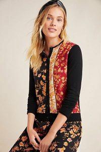 Kachel Faye Floral Sweater in Black Motif