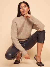 REFORMATION Finn Sweater in Oatmeal | neutral relaxed fitting jumpers