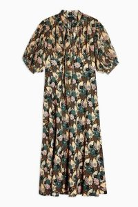 Topshop IDOL Art Deco Empire Lily Midi Dress | vintage style prints