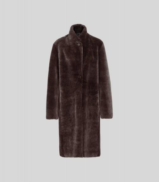 REISS JOY SHEARLING REVERSIBLE COAT CHOCOLATE ~ luxe winter coats