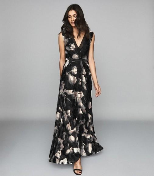 KAIRA BURNOUT MAXI DRESS NEUTRAL ~ devore event dresses