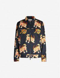 KIRIN PEGGY GOU Haetae-print oversized denim jacket | printed casual jackets