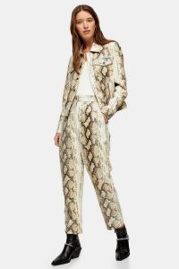 TOPSHOP Leather Snake Print Trousers / follow the latest trends