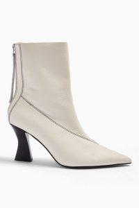 TOPSHOP MARA Leather Buttermilk Point Boots