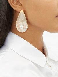 BURBERRY Mariner oyster shell earrings | ocean inspired accessory