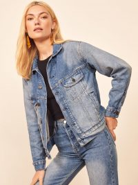 REFORMATION Mccoy Denim Jacket in Shasta