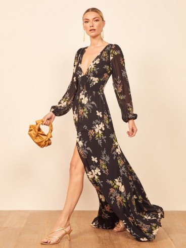 Reformation Metiers Dress in Isabella | floaty floral maxi dresses