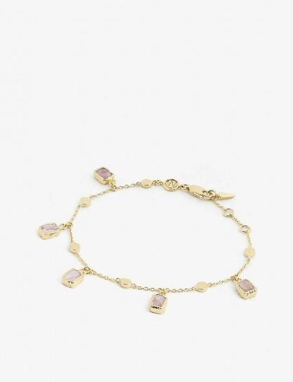 MISSOMA LTD Lena Pink Rhodochrosite charm bracelet / bracelets / charms