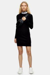 Calvin Klein Monogram Dress in Black / casual sporty look / designer logo fashion
