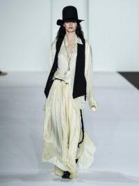 ANN DEMEULEMEESTER Nanette asymmetric cream jersey skirt ~ long fluid skirts
