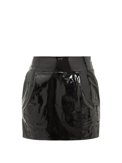 ALEXANDRE VAUTHIER Black patent-leather mini skirt / glossy skirts