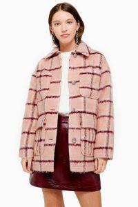 TOPSHOP Pink Check Jacket