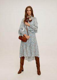 Mango Pleated shirt dress in sky blue REF. 57015550-PAMELA-LM