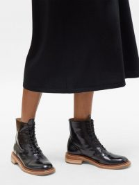 GABRIELA HEARST Robin leather ankle boots in black