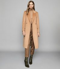 REISS SABEL WOOL BLEND OVERCOAT CAMEL ~ classic winter coats