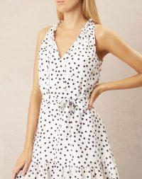 heidi klein Santa Margherita Ligure Ruffle Neck Mini Dress – poolside fashion – beach dresses