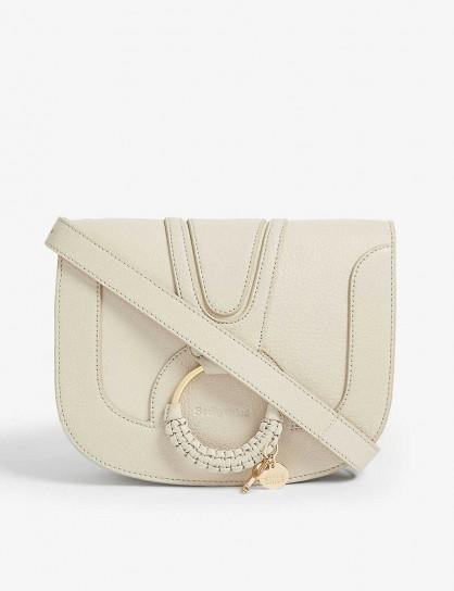 SEE BY CHLOE Small Hana cross-body bag in cement beige / luxe crossbody