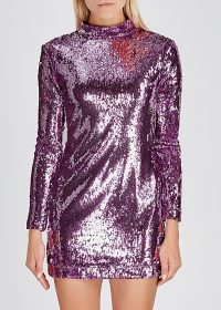 SERENA BUTE Lilac sequin mini dress ~ party glamour ~ shimmering evening dresses