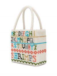 SHRIMPS Hera alphabet tote bag – sweet beaded handbag