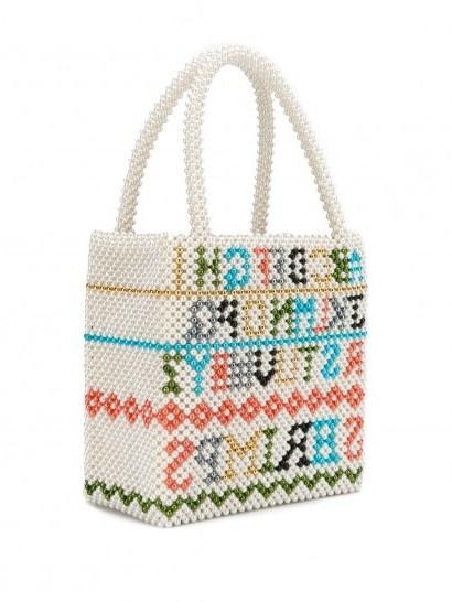 SHRIMPS Hera alphabet tote bag – sweet beaded handbag - flipped