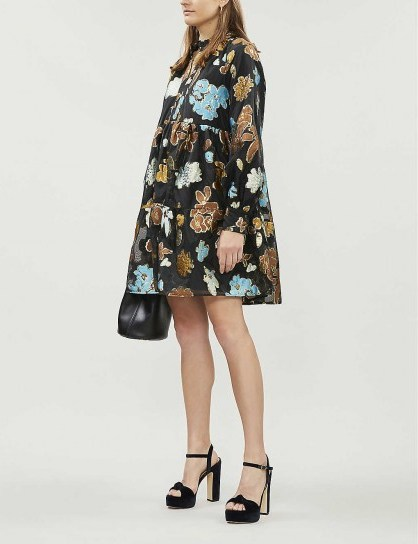 STINE GOYA Jasmine metallic floral-jacquard organza mini dress   full vintage style dresses - flipped