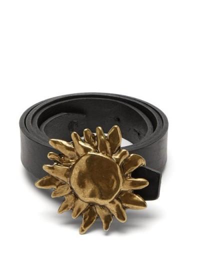 ÀCHEVAL PAMPA Sun-buckle black leather belt / statement belts