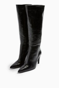 TOPSHOP TAYLOR Leather High Leg Boots / pointed toes