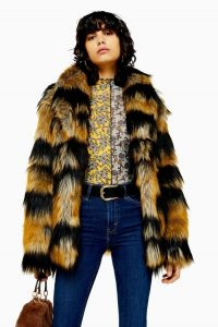 TOPSHOP Tiger Faux Fur Coat / seventies style winter coats / retro outerwear