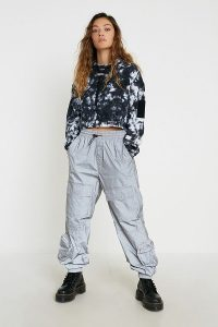 UO Stella Reflective Joggers in Silver