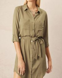 heidi klein Venice Relaxed Shirt Dress – holiday lunch fashion – poolside clothing