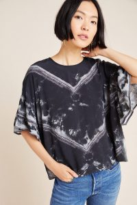 Conditions Apply Viera Dyed Blouse in Black and White / dolman sleeve top