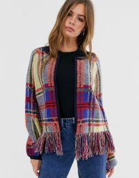 Wild Honey cardigan in fluffy check / tartan cardigans