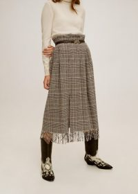 MANGO Wool fringed skirt – REF. 51065029-INDIA-LM