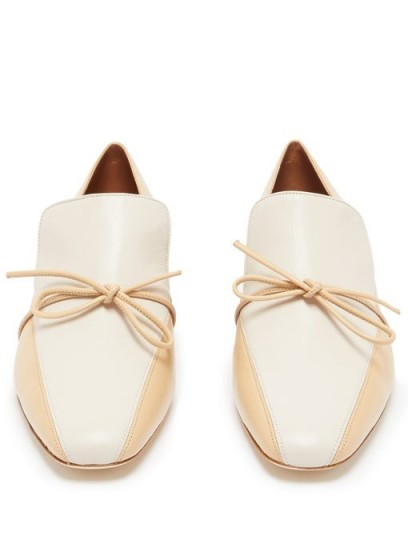 MALONE SOULIERS X Roksanda Celia knotted leather loafers in beige