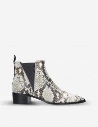 ACNE STUDIOS Jensen snake-print leather Chelsea boots