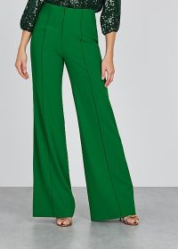ALICE + OLIVIA Dylan green wide-leg trousers ~ party pants